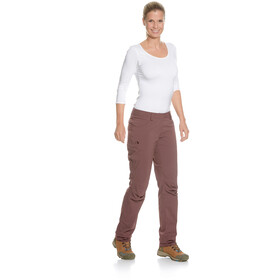 Tatonka Mohac Pants Women aubergine red